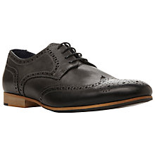 Buy Dune Radio Wingtip Leather Brogues, Black Online at johnlewis.com