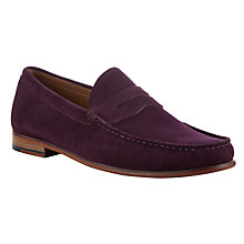 Buy John Lewis Lloyd Suede Penny Loafers, Aubergine Online at johnlewis.com