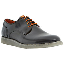 Buy Bertie Beetle Transparent Wedge Sole Leather Lace Up Shoes, Black Online at johnlewis.com