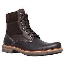 Buy KG by Kurt Geiger New Hampshire Lace Up Boots, Brown Online at johnlewis.com