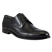 Buy BOSS Dresit Leather Derby Shoes, Black Online at johnlewis.com