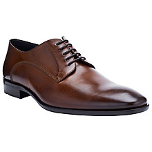 Buy BOSS Carmons Leather Lace-Up Shoes, Brown Online at johnlewis.com