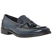 Buy Dune Ronnie Patent Leather Tassle Loafers, Navy Online at johnlewis.com
