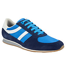 Buy BOSS Orange Adinous Leather Trainers Online at johnlewis.com