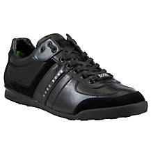 Buy BOSS Green Aki Wingtip Leather Trainers Online at johnlewis.com