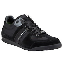Buy BOSS Akeen Textile and Suede Trainers Online at johnlewis.com