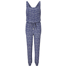 Buy Somerset by Alice Temperley Tile Print Jumpsuit, Blue Online at johnlewis.com