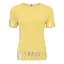 Buy COLLECTION by John Lewis Geometric Jersey Top, Lemon Online at johnlewis.com