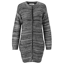 Buy John Lewis Capsule Collection Textured Stripe Long Cardigan, Black/Putty Online at johnlewis.com