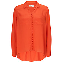 Buy Somerset by Alice Temperley High Low Blouse, Orange Online at johnlewis.com