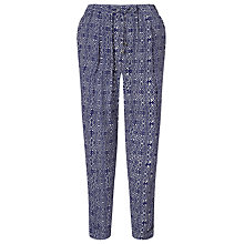 Buy Somerset by Alice Temperley Tile Print Trousers, Blue Online at johnlewis.com