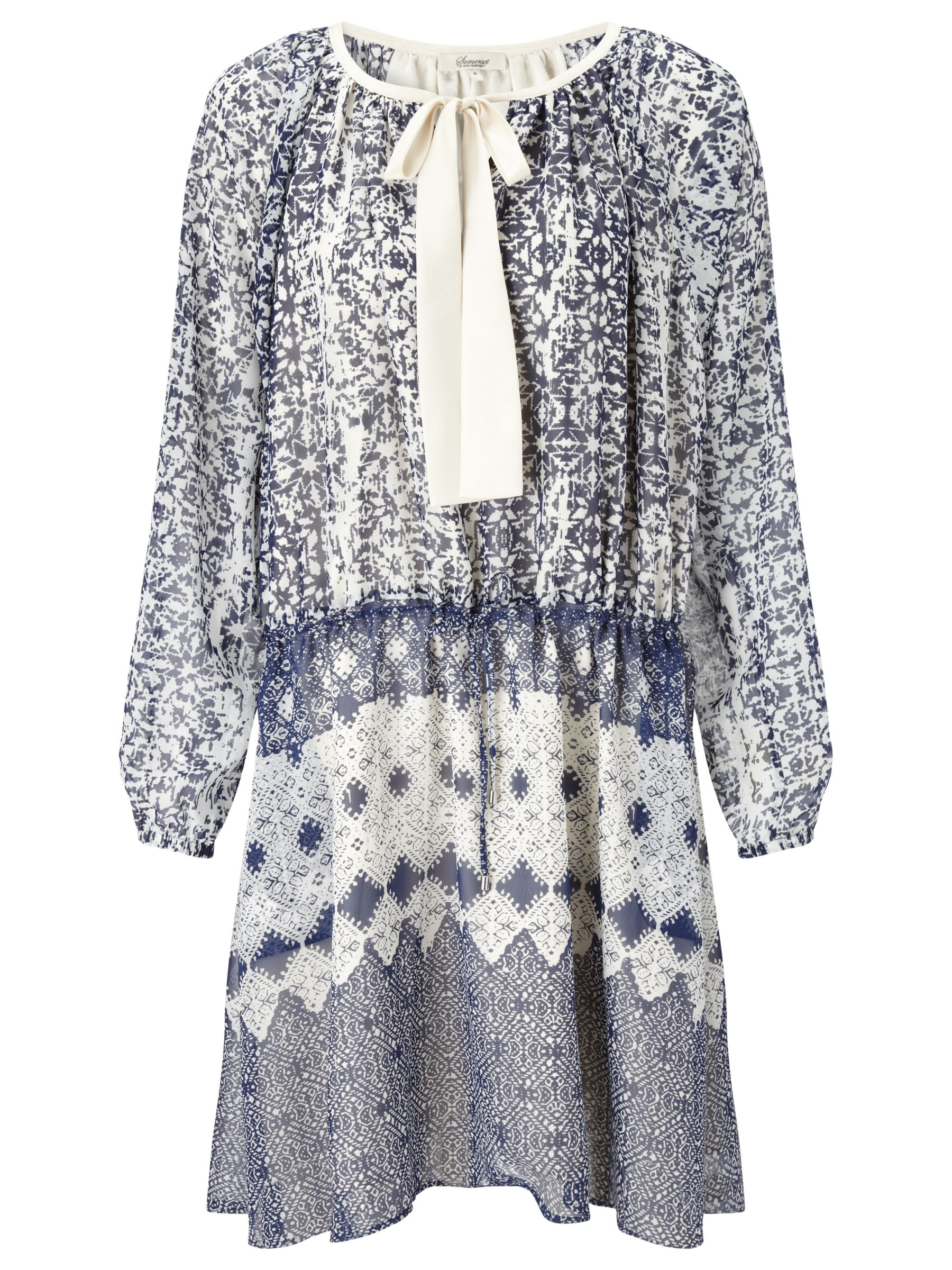 somerset by alice temperley tie waist tile dress blue, somerset, alice, temperley, tie, waist, tile, dress, blue, somerset by alice temperley, 10|12|8|18|14|6|16, edition magazine, into the blue, fashion magazine, the edit a seventies spring, women, womens dresses, inactive womenswear, outfit ideas, brands l-z, 1813459