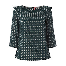 Buy White Stuff Fox Print Top, Heritage Green Online at johnlewis.com