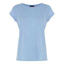 Buy Warehouse Boyfriend T-shirt, Bright Blue Online at johnlewis.com
