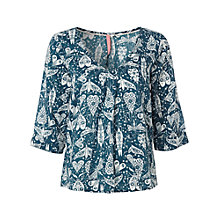 Buy White Stuff Whisper Insect Print Top, Hummingbird Online at johnlewis.com