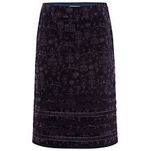 Buy White Stuff Linear Velvet Skirt, Purple Fable Online at johnlewis.com
