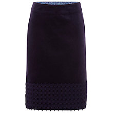 Buy White Stuff Velvet Lacey Skirt, Purple Fable Online at johnlewis.com