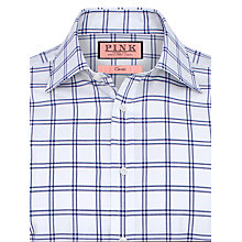 Buy Thomas Pink Lloyd Check XL Sleeves Shirt, White/Navy Online at johnlewis.com