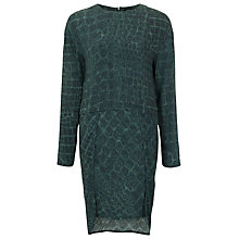 Buy French Connection Alligator Long Sleeve Dress, Green Multi Online at johnlewis.com