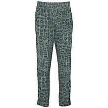 Buy French Connection Alligator Check Trousers, Green Multi Online at johnlewis.com