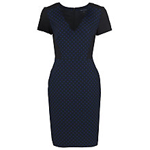 Buy French Connection Night Sky Jacquard Dress, Black Online at johnlewis.com