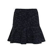 Buy French Connection Space Dye Jersey Skirt, Black Online at johnlewis.com