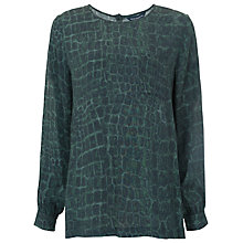 Buy French Connection Alligator Check Top, Green Multi Online at johnlewis.com