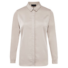 Buy Viyella Satin Panel Blouse, Beige Online at johnlewis.com