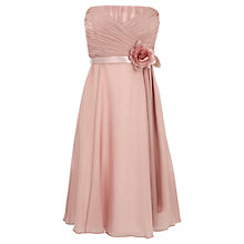 Buy Coast Allure Silk Midi Dress, Blush Online at johnlewis.com