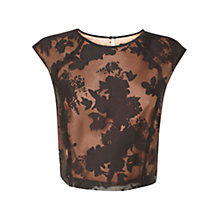 Buy Coast Harper Co-Ord Top, Black/Bronze Online at johnlewis.com