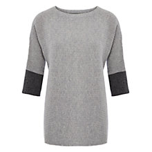 Buy Viyella Ribbed Oversized Jumper, Grey Marl Online at johnlewis.com