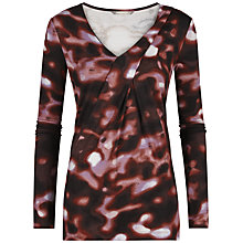 Buy Sandwich Blurred Spot Top, Burgundy Online at johnlewis.com