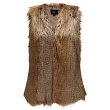 Buy Unreal Fur The Ice Breaker Gilet,  Natural Racoon Online at johnlewis.com