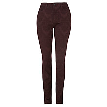Buy NYDJ Brocade Jeggings, Burgundy Online at johnlewis.com
