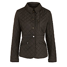 Buy Lauren Ralph Lauren Diamond Quilted Peplum Jacket, Black Online at johnlewis.com