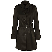 Buy Lauren Ralph Lauren Belted Duster Jacket, Black Online at johnlewis.com