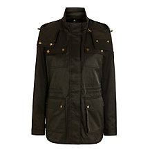 Buy Lauren Ralph Lauren Short Parka Jacket, Black Online at johnlewis.com