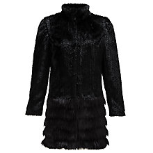 Buy Unreal Fur A-Cappella Coat, Black Online at johnlewis.com