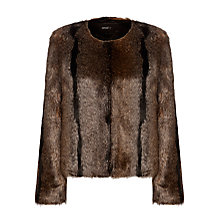 Buy Unreal Fur Dream Jacket, Natural Online at johnlewis.com