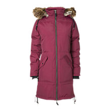 Buy Minimum Faux Fur Hooded Parka Coat, Red Portion Online at johnlewis.com