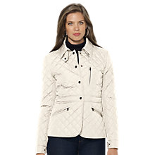 Buy Lauren Ralph Lauren Diamond Quilted Peplum Jacket Online at johnlewis.com