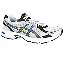 Buy Asics Men's GEL-Essent Running Shoes, White/Black Online at johnlewis.com