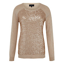 Buy Viyella Sequin Front Jumper, Blush Online at johnlewis.com