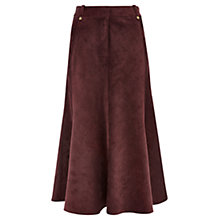 Buy Viyella Cord Skirt, Burgundy Online at johnlewis.com