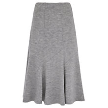 Buy Viyella Boiled Wool Fit And Flare Skirt, Mid Grey Online at johnlewis.com