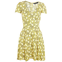 Buy Miss Selfridge Printed Tea Dress, Yellow Online at johnlewis.com
