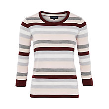 Buy Viyella Stripe Jumper, Grey Marl Online at johnlewis.com