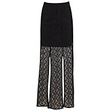 Buy Miss Selfridge Geometric Lace Maxi Skirt, Black Online at johnlewis.com