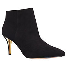 Buy Carvela Apple Mid Heel Ankle Boots, Black Online at johnlewis.com