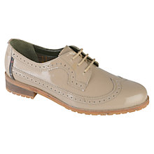 Buy Barbour Ellen Leather Brogues, Taupe Online at johnlewis.com